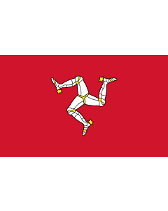 Table-Flag / Desk-Flag: Isle of Man 15x25cm