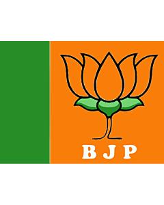 Drapeau: BJP |  drapeau paysage | 0.06m² | 21x28cm