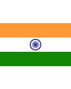 Bandera de Mesa: India 15x25cm