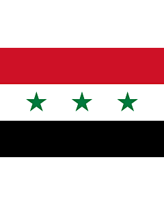 Flag: Iraq 1963-1991 |  landscape flag | 2.16m² | 23sqft | 120x180cm | 4x6ft