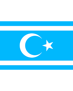 Flag: Iraq Turkmen Front | Vectorized version of Flag of Iraq Turkmen Front |  landscape flag | 1.35m² | 14.5sqft | 90x150cm | 3x5ft