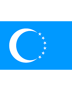 Flag: Turkmen |  landscape flag | 1.35m² | 14.5sqft | 90x150cm | 3x5ft