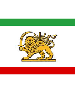 Flag: Persian Flag introduced by en Amir Kabir |  landscape flag | 2.16m² | 23sqft | 130x170cm | 50x65inch