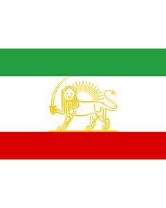 Flag: Persia as shown in Nouveau Petite Larousse Illustré |  landscape flag | 2.16m² | 23sqft | 120x180cm | 4x6ft