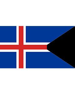 Flag: Iceland |  landscape flag | 1.35m² | 14.5sqft | 90x150cm | 3x5ft