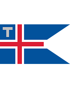 Drapeau: Customs Flag and Ensign of Iceland | Customs flag of Iceland. Ratio 37 18 | Servicio Aduanero |  drapeau paysage | 1.35m² | 90x150cm