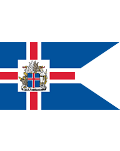 Flag: Presidential Standard of Iceland | Icelandic Presidential |  landscape flag | 0.06m² | 0.65sqft | 20x30cm | 8x12in
