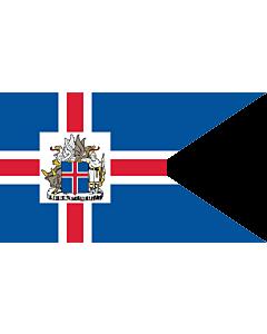 Flag: President of Iceland | Icelandic Presidential flag |  landscape flag | 2.16m² | 23sqft | 120x180cm | 4x6ft