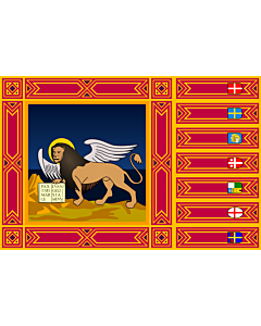 Table-Flag / Desk-Flag: Veneto 15x25cm