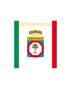 Flag: Apulia or Puglia |  landscape flag | 0.24m² | 2.5sqft | 40x60cm | 1.3x2foot