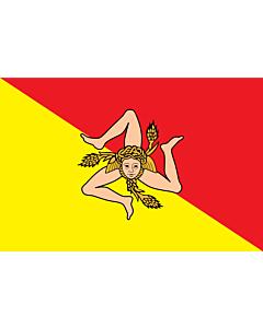 Flag: Sicily |  landscape flag | 0.24m² | 2.5sqft | 40x60cm | 1.3x2foot