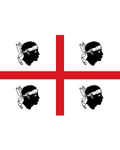 Drapeau: Sardinia |  drapeau paysage | 0.24m² | 40x60cm