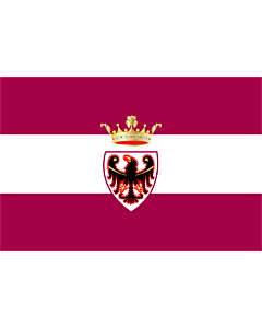 Flag: Province of Trento |  landscape flag | 0.24m² | 2.5sqft | 40x60cm | 1.3x2foot