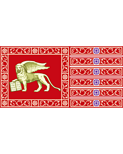 Flag: Province of Venice |  landscape flag | 0.24m² | 2.5sqft | 35x70cm | 15x30inch