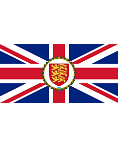 Flag: Lieutenant Governor of Jersey |  landscape flag | 2.16m² | 23sqft | 100x200cm | 40x80inch