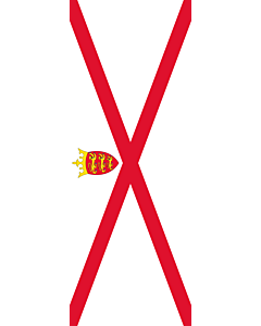 Vertical Hanging Beam Flag: Jersey |  portrait flag | 6m² | 64sqft | 400x150cm | 13x5ft