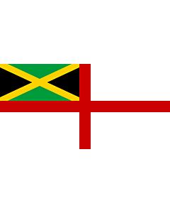 Drapeau: Naval Ensign of Jamaica |  drapeau paysage | 1.35m² | 80x160cm
