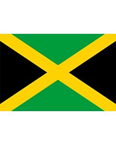 Drapeau: Jamaïque |  drapeau paysage | 3.375m² | 150x225cm