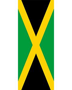 Drapeau: Jamaïque |  portrait flag | 3.5m² | 300x120cm