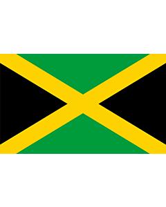 Drapeau: Jamaïque |  drapeau paysage | 2.4m² | 120x200cm