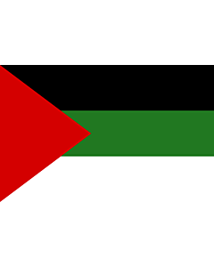 Flag: Arab revolt of 1917  Hashemites |  landscape flag | 0.06m² | 0.65sqft | 20x30cm | 8x12in