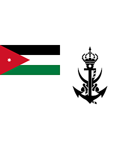 Flag: Naval Ensign of Jordan |  landscape flag | 2.16m² | 23sqft | 100x200cm | 40x80inch