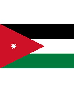 Bandera de Mesa: Jordania 15x25cm