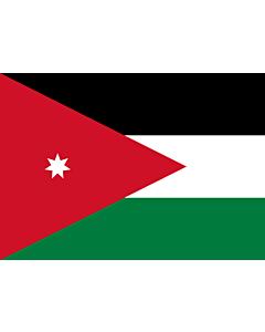 Flag: Jordan |  landscape flag | 0.7m² | 7.5sqft | 70x100cm | 2x3ft