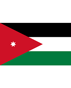 Flag: Jordan |  landscape flag | 2.4m² | 26sqft | 120x200cm | 4x7ft