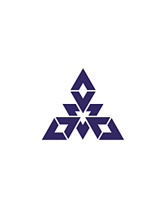 Flag: Fukuoka |  landscape flag | 0.24m² | 2.5sqft | 40x60cm | 1.3x2foot