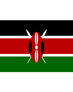 Flag: Kenya |  landscape flag | 0.7m² | 7.5sqft | 70x100cm | 2x3ft