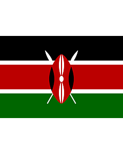 Flag: Kenya |  landscape flag | 3.375m² | 36sqft | 150x225cm | 5x7.5ft