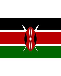 Bandera: Kenia |  bandera paisaje | 3.375m² | 150x225cm