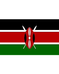 Flag: Kenya |  landscape flag | 3.75m² | 40sqft | 150x250cm | 5x8ft