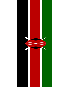 Flag: Kenya |  portrait flag | 3.5m² | 38sqft | 300x120cm | 10x4ft