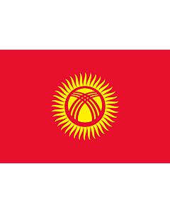 Drapeau: Kirghizistan |  drapeau paysage | 0.06m² | 20x30cm