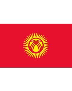 Drapeau de Table: Kirghizistan 15x25cm