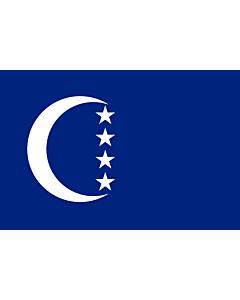 Flagge: Large+ Grande Comore  |  Querformat Fahne | 1.5m² | 100x150cm