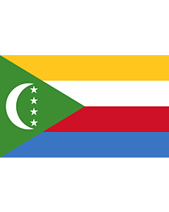 Flag: Comoros |  landscape flag | 1.35m² | 14.5sqft | 90x150cm | 3x5ft
