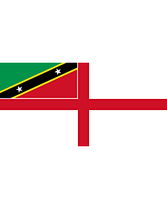 Flag: Naval Ensign of Saint Kitts and Nevis |  landscape flag | 1.35m² | 14.5sqft | 80x160cm | 30x60inch