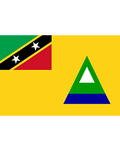 Flag: Nevis |  landscape flag | 1.35m² | 14.5sqft | 90x150cm | 3x5ft