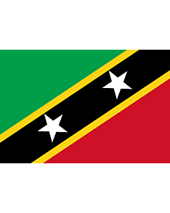 Flag: Saint Kitts and Nevis |  landscape flag | 0.135m² | 1.5sqft | 30x45cm | 1x1.5foot