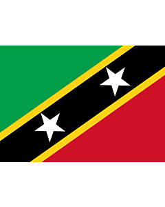 Flag: Saint Kitts and Nevis |  landscape flag | 0.7m² | 7.5sqft | 70x100cm | 2x3ft
