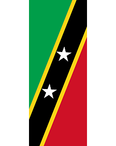 Vertical Hanging Swivel Crossbar Banner Flag: Saint Kitts and Nevis |  portrait flag | 3.5m² | 38sqft | 300x120cm | 10x4ft