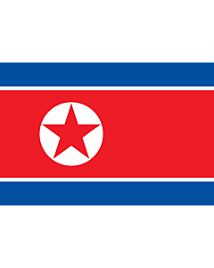 Flag: Korea (Democratic People's Republic) (North Korea) |  landscape flag | 2.16m² | 23sqft | 120x180cm | 4x6ft