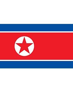 Flagge: XL+ Korea (Demokratische Volksrepublik) (Nordkorea)  |  Querformat Fahne | 2.4m² | 120x200cm