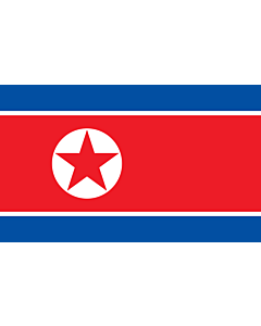 Flag: Korea (Democratic People's Republic) (North Korea) |  landscape flag | 3.75m² | 40sqft | 150x250cm | 5x8ft