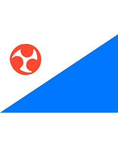 Flagge: Large Jejudo | Jeju Special Self-governing Province | Jeju Teukbyeol Jachido | 済州特別自治道旗 | 제주특별자치도기 | 济州特别自治道旗 | 濟州特別自治道旗  |  Querformat Fahne | 1.35m² | 90x150cm