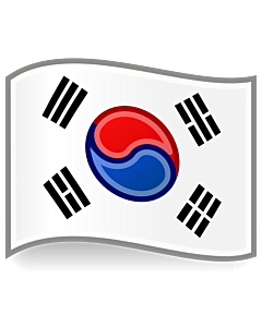 Flagge: Large Kr | South Korea, inspired by Tango icons  |  Fahne 1.35m² | 120x120cm
