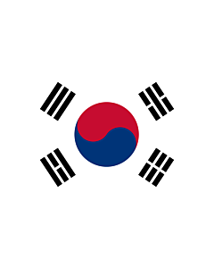 Flag: Korea (Republic) (South Korea) |  landscape flag | 1.35m² | 14.5sqft | 90x150cm | 3x5ft